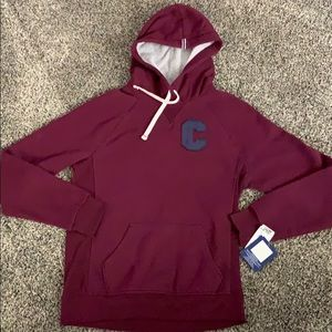 NWT Champion Heritage Fleece hoodie dark berry S